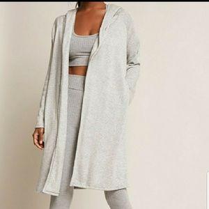 Zara knit MUSTARD hoodied cardigan with pockets